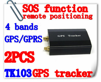 Free Shipping High Quality TK103 Vehicle/Car GPS Tracker With 4 Quadbands,GPS Tracking Systerm GPS/GSM Antenna