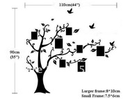 Free Shipping: Hot Selling Photo Tree Wall Decals / DIY Decoration Fashion Wall Sticker/ Vinyl Adhesive Sticker/Drop