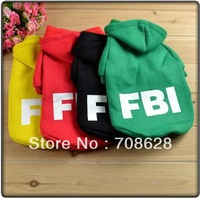 Free Shipping 2013 New Cotton Pet Luminous FBI Sport Coat For Spring Dog Cat Clothes Apparel Yellow Red Black Green XS-XL