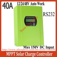 2013New Arrival 40A MPPT solar Charge Controller,12/24/48V Auto work,Max Solar input 150V,upto 99% efficiency,RS232communication