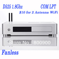 2G RAM 80G HDD or 16G SSD Fanless mini itx htpc mini pc with Atom Dual Core D525