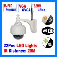 Wifi Waterproof CCTV Surveillance IR PTZ IP Camera     AG-IPFM10R