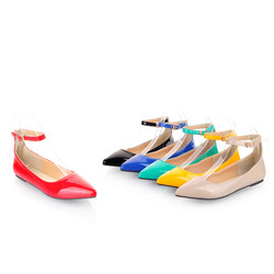 The new candy color paint pointed shoes shoes ship flat shoes list(China (Mainland))
