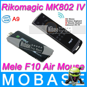 [Mele F10 Air Mouse] Rikomagic RKM MK802 IV Android TV Box Mini PC Android 4.2 RK3188 Quad Core 1.8GHz 2G/8G WiFi TV Receiver