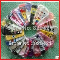 24PCS=12 pairs Free shipping A301 fall kawaii cartoon socks sock slippers cute socks sports socks
