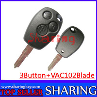 pcf7947 chip 433mhz  remote case for   Renault  Kangoo Megane  Laguna 3 button