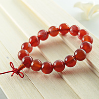 [Primary sources] Buddha head Buddha the word natural red agate bracelet natural crystal Buddhist bracelet jewelry