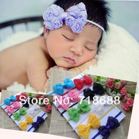 "Baby Headbands 3"" Chiffon Rose Bow Headbands 30pcs/lot Baby Girls Headbands"