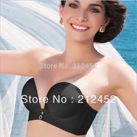 Free shipping,2013 HOT! Women's One-piece glossy bra, ladies half cup bra,Designed for plump women design
