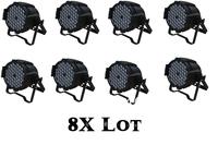 8X Lot-Free Shipping CE Approved RGBW 54*3W LED Par Light,Stage Par64 Light