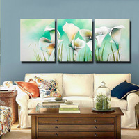 Free Shipping !! Calla Lily Real Handmade Modern Abstract  Flower Oil Painting On Canvas Wall Art ,Z025