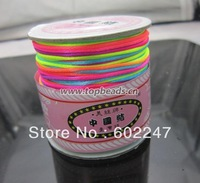Free shipping! 80Yard multicolour Color Shamballa Cord Chinese Knot Rattail/Satin Nylon Cord 1.5mm