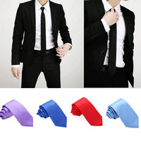 2013 new arrival Fashion Casual Classic Solid Color Men's Neck Tie Slim Plain Party Wedding Necktie 10 Colors