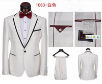 Free Shipping 2013  White Prom Suits Men wedding suits Tuxedo suit with pants men business dress suits S- 3XL