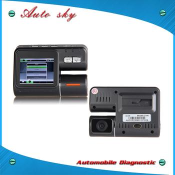 "Portable Dual lens Car DVR C105 2.0"" TFT Full HD 720P 1280*720 Ultra Clear Camera 1.2MP 120 degree G-sensor Multi Video Locks"