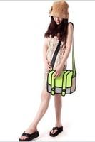 2013 new fashion cartoon 3d bags pink bags cartoon 3d shoulder messenger bag free shipping