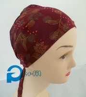 underscarf chemo back tie bonnet hat hijab scarf bandanas cancer hat back tie Various Colours 30pc/lot free ship