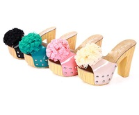Free shipping 2013 women sandals high heels platform flower fashion brand High Heel Slippers XWT016