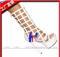 2013 new summer boots 15cm high with the low boots performances shoes night games steel dancer boots hollow grid fun cool boots