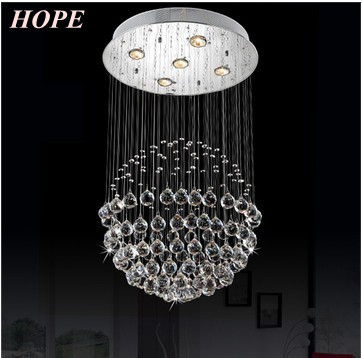 new product crystal ceiling light LED GU10 with 5pcs D500*H800mm(China (Mainland))
