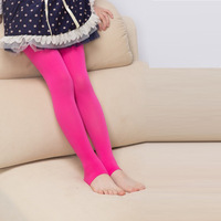 Children candy color seamless leggings thin silk pants for spring and autumn  Free shipping
