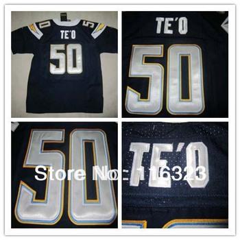 2013 Draft Football Jerseys Manti Te'o #50 Navy blue Elite Jersey Size:40~56+Free Shipping,Mix Order