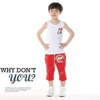 Hot sale 100% cotton Vest Girls Boy Baby love heart vests underwaist T-shirt tanks children clothes  610210J