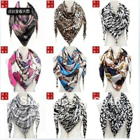 Round beans 2013 autumn high quality letter pattern pendant bib scarf silk scarf muffler scarf