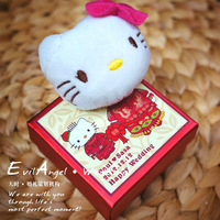 2013 new Hello Kitty 3D Plush Toy Paper Gift box, Candy Chocolate Holder, Wedding Favors, Jewellery Accessories Case