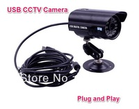 Free Shipping For Home Shop Office IR Nightvision Waterproof Indoor outdoor Motion Detection USB CCTV camera