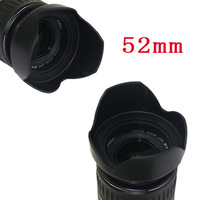 Free Shipping + Tracking Number Brand New 1PC 52mm Flower Petal Lens Hood for Nikon Canon Pentax Sony