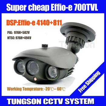 High Resolution Sony CCD Effio 700TVL Outdoor Waterproof Thermal Video Surveillance Night Vision IR Array CCTV Camera Security