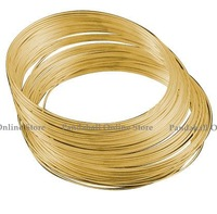 Steel Memory Wire, Necklaces Making, Nickel Free, Golden, 11.5CM, Wire: 1.0 mm, about 250 circles/500g