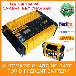 Free shipping ! New Car Battery Charger 12V 15A ,Battery Repair Tool ,Automatic Charging Rate(China (Mainland))
