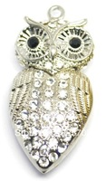 Free shipping metal owl 4 gb, 8 gb, 16 gb and 32 gb flash drive pen usb/memory stick 2.0 / car/necklace/gifts U disk