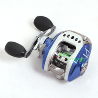 8+1BB 6.3:1 Gear Ratio Baitcasting Fishing Reel Right Hand Lure Reel Blue