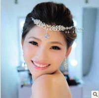 Free Shipping! Swan Lake Rhinestone Tiaras Wedding Necklace Earrings Set Bridal Jewelry Sets For Woman SJ039