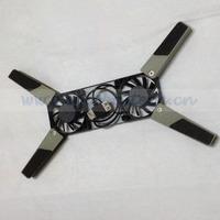 Free Shipping Mini Cooling Pad for Notebook, Laptop, Mini Desktop PC, Portable Cooler Pad Light Smart USB Cooling Fan