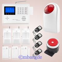 New Wireless Siren Quad Band Dual Home Burglar GSM Alarm Security System PSTN Keypad with free shipping