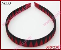 free freight 20pcs 3/4'' Ribbon Woven Headband braid headbands ribbon wraped headbands