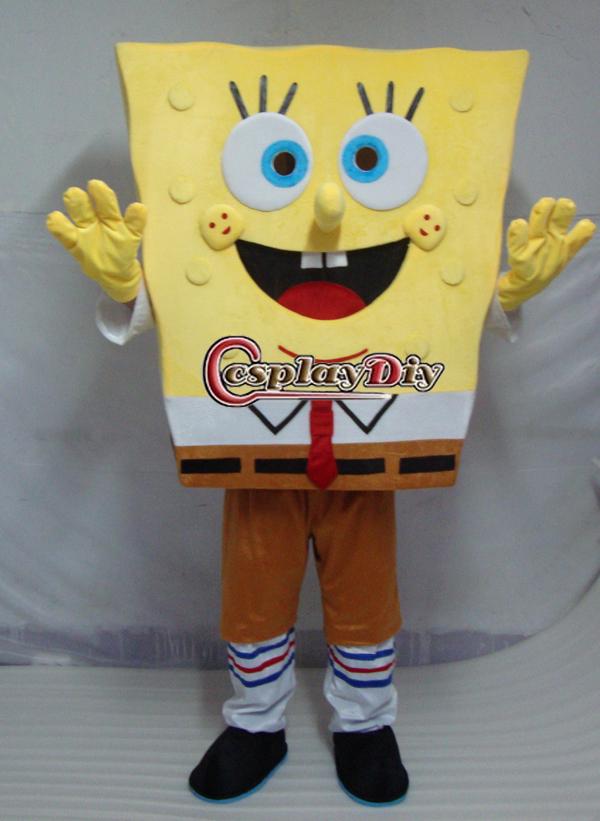 Freeshiping New Adult Cartoon costume Spongebob Mascot costume(China (Mainland))