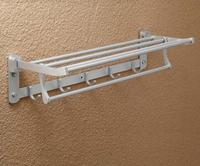 Space aluminum bathroom folding towel rack bathroom towel rack fitted band row hook  BR-FA-5622