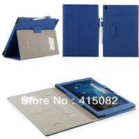 Case for Sony Xperia Tablet Z Case Cover with 2 Card Holder & Hand Support for Tablet Z 10.1 Inch Tablets Case-Free Shipping