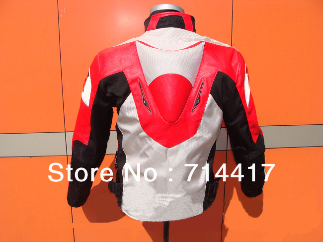 2013 new style red mens motorcycle jacket motorbike riding suit with size s to xxxl free shipping(China (Mainland))