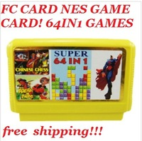 Fc yellow card classic 64 in1 games card ne s game card hot salling!!!