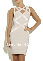 2013 New arrival Hot sales HL Backless Bandage Dresses Strap Celebrity  Dresses  for Women Cocktail Party Dress Evening Dresses