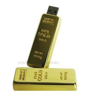 Special price with Free shipping !! Usb flash drive 16g gold bullion USB disk customized logo USB2.0 memory stick 16gb(China (Mainland))
