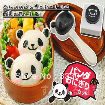 FREE shipping  kawaii DIY 3D panda sushi mold rice ball maker japan sushi mould sushi tool rice ball maker seaweed cutter bento