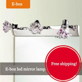 E-box Free shiping(4pieces/lot) Led mirroe lamp led mirror light waterproof washbasin bathroom dressing room wall lamp