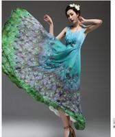 Free shipping 2014 Summer women's one-piece bohemia full dress Sleeveless suspender Long dress plus size maxi dress S-XXL